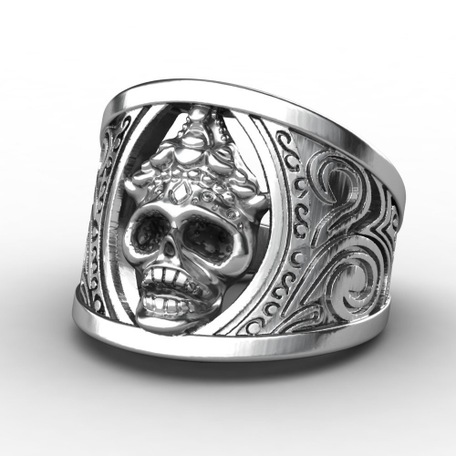 EVBEA Wholesale Classic Evil Skull Ring for Man Stainless Steel Man's Punk Style Jewelry As Gift For New Year