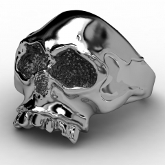 EVBEA Newest Steel Soldier Stainless Steel World Dictator Ring New Designed Cool Skull Fashion Jewelry Titanium Steel Ring