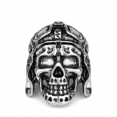 Black Friday Hottest Rock Roll kpop Silver Gothic Punk Skull Big Adjustable Rotating Bikers Bible Rings Men's & Boys' Jewelry