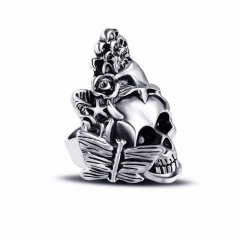 Racing Stretch Hip Hop Rock Boho Silver Gothic Punk Skull Big Adjustable Bikers Motorcycle Rings Men's & Boys' Jewelry