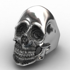 Personality Men's Retro Skull Ring Biker Jewelry Titanium Steel Rings With European Style For Happy New Year