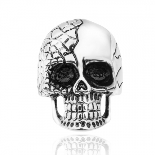 Black Friday Tattoo Hip Hop Rock Silver Punk Skull Big Adjustable Bikers Motorcycle Rings Men's & Boys' Jewelry