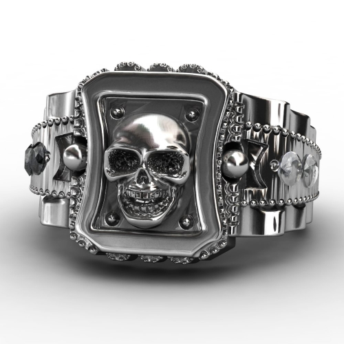 EVBEA Skull Men Ring Zinc Alloy Punk Rock Rings Fashion DIY For Happy NEW Year Gift Bike Rings
