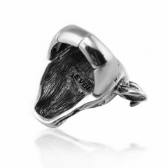 Wholesale Hip Hop Rock Silver Large Size Couple RingsParty Men 's Jewelry Accessories