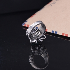 165247606b269e ... EVBEA Punk Rings Cool Hell Death Skull Ring Man Never Fade Punk Biker  Man's High Quality ...