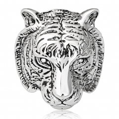 Smart ClayLucky Gothic Men's Biker Tiger Skull Skeleton Silver Bikers Ring Jewelry Accessories cnd
