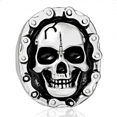 Wholesale Hip Hop Punk Exquisite Flower Skull Adjustable Silver Rings Party Bikers Men Jewelry