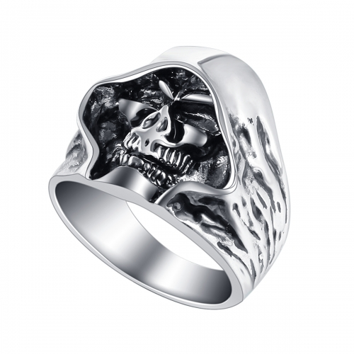 EVBEA Graduation Biker's Motocycle Metal Hell Death Skull Ring for Men and Women Adjustable Size Punk Jewelry Accessoires