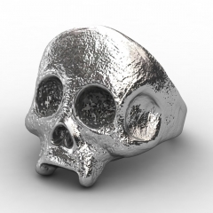 EVBEA Cool Rock Plated Rings For Men Skull Design Stainless Steel Halloween Bike Rings Men Party Jewelry Gifts