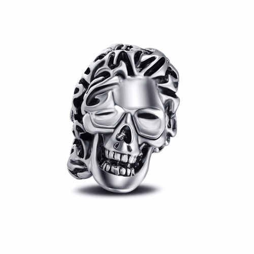 Father's Day Gift Hip Hop Rock Punk Skull  Adjustable Silver Plated Rings Bikers Motorcycle Men's & Boys'  Party Jewelry