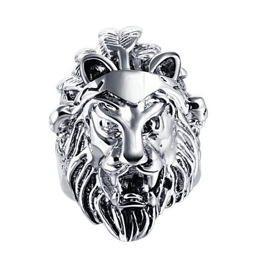 Hip Hop Bijoux Wholesale Men Jewelry Punk Lion Biker Rings Skull Couple Jewelry Accessories