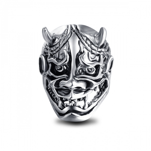 Graduation Pinky Silver Gothic Punk  Unicorn Bull Skull Big Adjustable Rotating Bikers Bible Rings Men's Jewelry