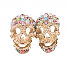 Acrilico Brincos Hip Hop Rock Punk  Silver Plated Skull Earrings Stud  Women Fashion Jewelry Accessories