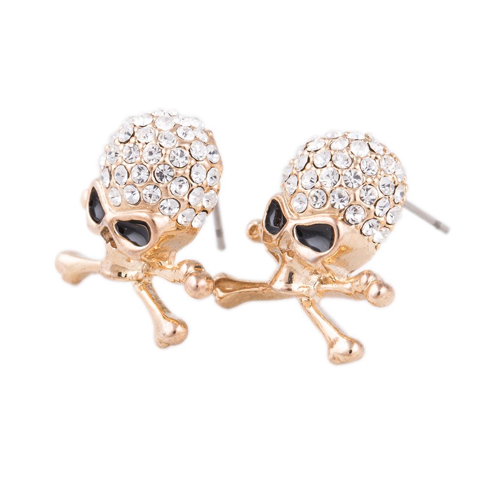 bd78f26f4 Outstanding Brincos Hip Hop Rock Punk Pierced Silver Plated Skull Earrings  Stud Women Fashion Jewelry Accessories