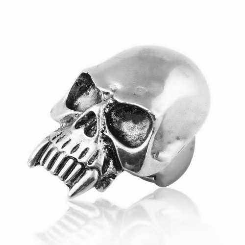 Black Friday Hip Hop Wholesale Punk Silver Metal Skull Adjustable Biker Couple Party Rings Jewelry for Men and Women
