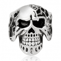 Hotest Good Gothic Punk Skull Silver Adjustable Rotating Party Bikers Rings Men's Jewelry