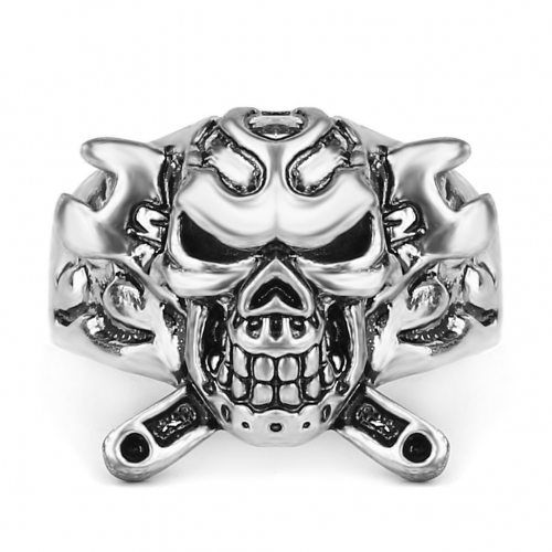 EVBEA Cool Fashion Unique Punk Man's Skull Ring Jewelry for Man Stainless Steel Titanium Man's Fashion Rings