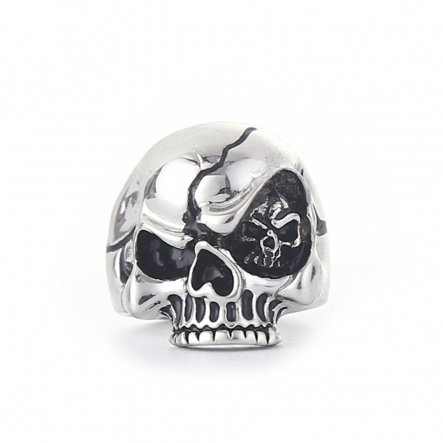 EVBEA Wholesale Cheap Cool Hell Death Skull Ring Man Never Fade Punk Biker Man's High Quality Punk Rock Ring