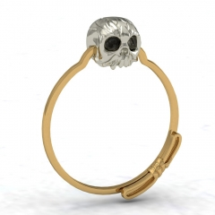 EVBEA Gold Filled Ring Sets Vintage Skull Shaped Ring AAA CZ Fashion Jewelry For Women Size 7 8 9