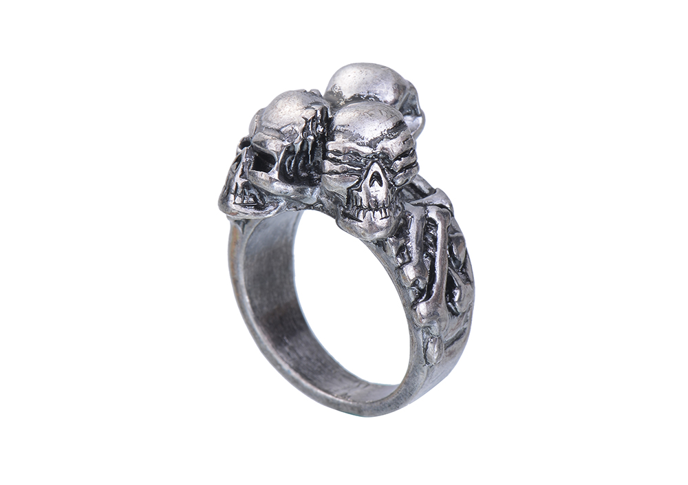 3ce9a0b54af25c EVBEA Punk Rings Cool Hell Death Skull Ring Man Never Fade Punk Biker Man's  High Quality