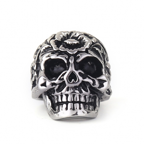 EVBEA New Open Skull Hand Adjustable Ring Stainless Steel Man's Fashion Jewelry Biker Punk Jewelry R243 Size 8~11