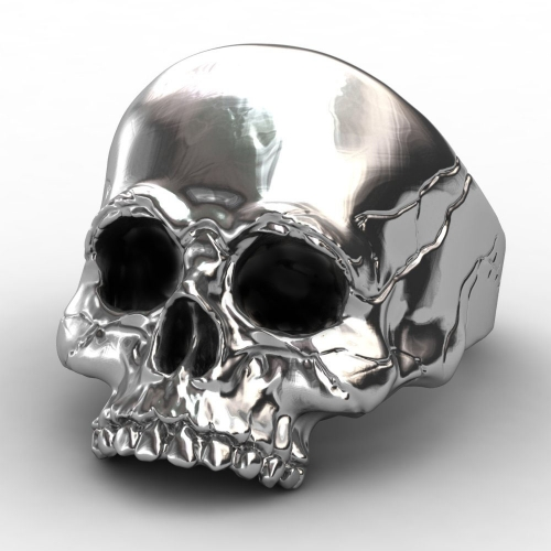 EVBEA Big Punk Biker Skull Ring For Man Stainless Steel Unique Punk Men Cool Jewelry Vintage Jewelry
