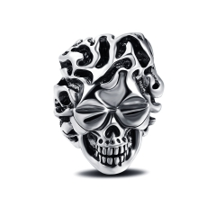 Rap Hip Hop Rock Punk Glases Skull Big Adjustable Silver Plated Rings Bikers Motorcycle Men's & Boys' Jewelry