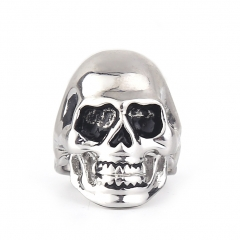 EVBEA Punk Skull Rings for Men Stainless Steel Bike Jewelry Cool Mens Ring Accessories Finger Rings
