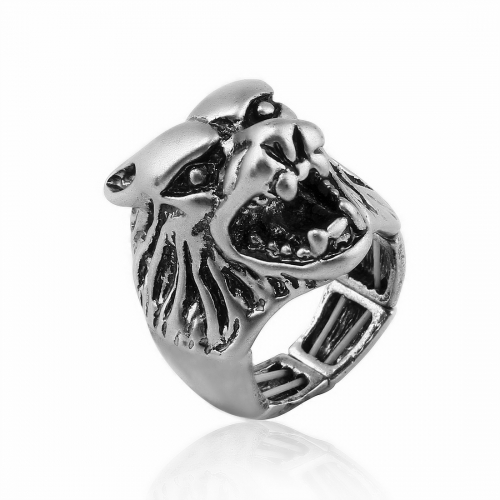 EVBEA Punk Men Ring Black Titanium Male Ring High Quality Jewelry 316L Titanium Steel Skull Rings For Men