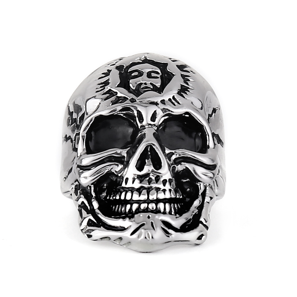 82779c1037d098 EVBEA Wholesale Cheap Cool Hell Death Skull Ring Man Never Fade Punk Biker  Man's High Quality