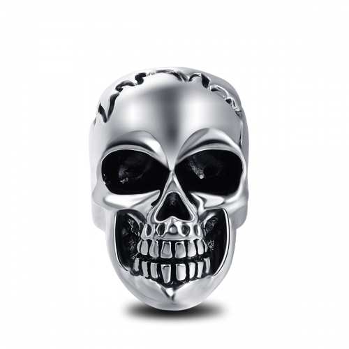Black Friday Titanium Alloy Hip Hop Rock Punk Skull Big Adjustable Silver Plated Rings Bikers Motorcycle   Men's & Boys' Jewelry