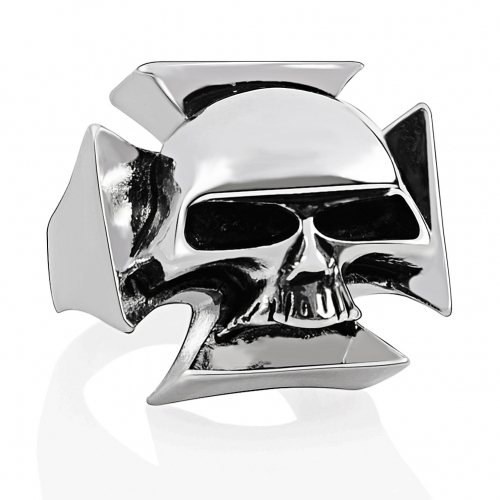 Men's Fashion Punk Skull Ring Gothic cross Jewelry