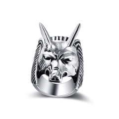 Fashion Alloy Male Punk Biker Ring Gothic Animal Jewelry
