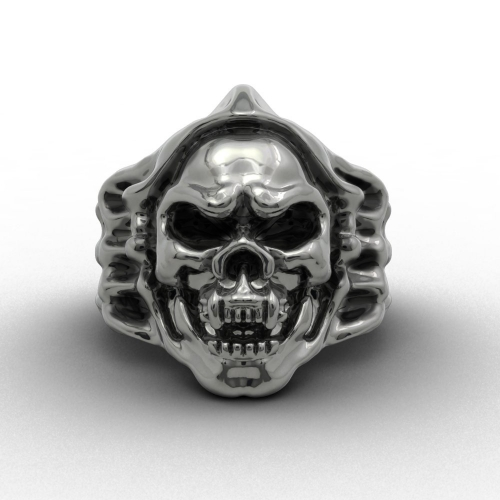 Vintage Punk Skull Biker Ring For Men Gothic Style Jewelry