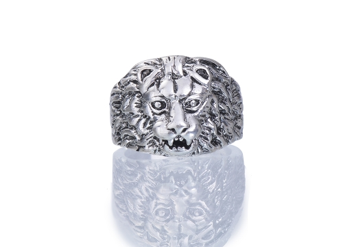 Vintage Men's Punk Lion Ring Biker and Gothic Jewelry
