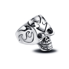 Punk style skull fashionable adjustable ring for men