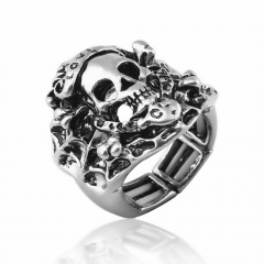 Forehead with love skull ring gothic 2017 new punk rock party rings