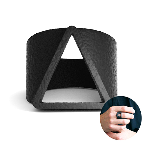 Classic Triangle Matted Rings for Men&Boys Black Fashion Jewelry