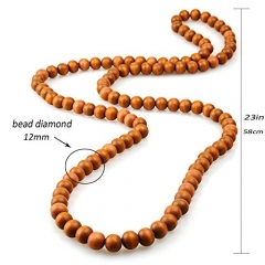 EVBEA Tibetan Beads Polished Triangle Dragon Eye Bodhi Seeds Prayer Malas Natural Wooden Man/Women Necklace Beads Necklaces