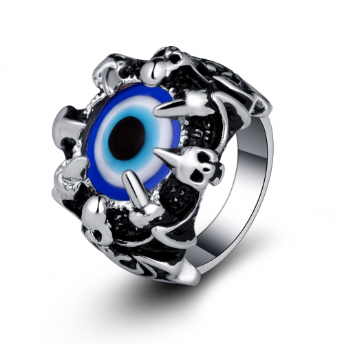 EVBEA Skull Punk Ring Evil Eye Gothic Jewelry
