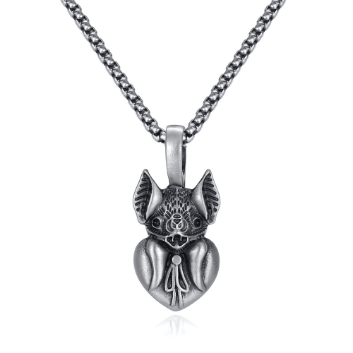 EVBEA Coronavirus Inspiriational Gifts for Women Men Cool Statement Bat Heart Pendant Necklace Engraved with I'm Sorry for Girls
